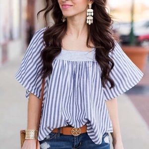 Madewell | Striped Butterfly Top